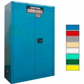 Securall® 45-Gallon Sliding Door, Acid & Corrosive Cabinet, Blue