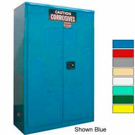 Securall® 45-Gallon Sliding Door, Acid & Corrosive Cabinet, Md Green