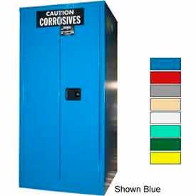 Securall® 60-Gallon Sliding Door, Acid & Corrosive Cabinet, Red