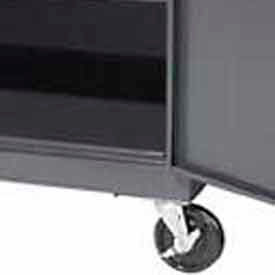 """FACTORY INSTALLED Securall® Caster Assembly for Cabinets 18"""" in Depth"""