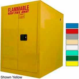 Securall® 60-Gallon, Sliding Door, Horizontal Flammable Drum Cabinet Blue