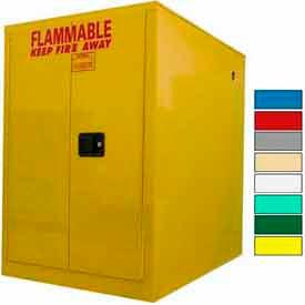 Securall® 60-Gallon, Sliding Door, Horizontal Flammable Drum Cabinet Yellow