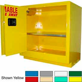 Securall® 24-Gallon Sliding Door Laboratory Cabinet Ag Green
