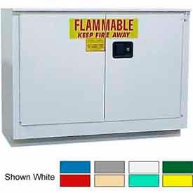 Securall® 36-Gallon Sliding Door Laboratory Cabinet Blue
