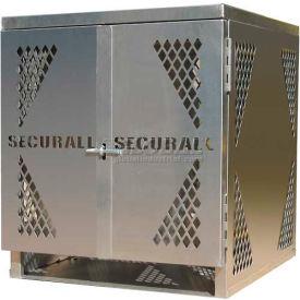 Securall® 4 Cylinder Vertical LP/Oxygen Cabinet Aluminum