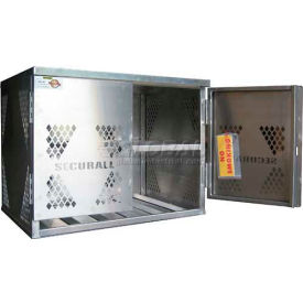 Securall® 6 Cylinder Horizontal Steel LP/Oxygen Cabinet Yellow