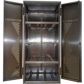Securall® 8 Cylinder Vertical LP/Oxygen Cabinet Aluminum