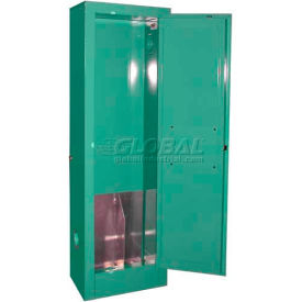 """Securall® 2, D & E Cylinder, Vertical Medical Fire Lined Gas Cabinet, 14""""W x 9""""D x 44""""H"""