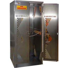 Securall® 5-10 Cylinder Vertical Steel Oxygen Cabinet Md Green