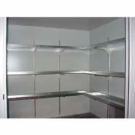 "Securall® Shelves, 14""W with 2"" Lip Sides Leak Tight, Building Models AG/B"