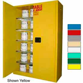 Securall® 60-Gallon Manual Close, Paint/Ink Cabinet Ag Green