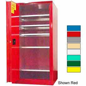 Securall® 120-Gallon, Sliding Door, Paint/Ink Cabinet Yellow