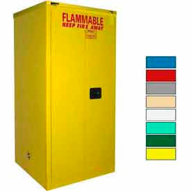Securall® 120-Gallon, Self-Close, Paint/Ink Cabinet Yellow