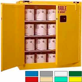 Securall® 40-Gallon, Self-Close, Paint/Ink Cabinet Yellow