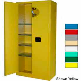 Securall® 36x18x72 Flammable Spill Containment Cabinet Ag Green