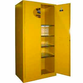 Securall® 36x24x72 Flammable Spill Containment Cabinet Yellow
