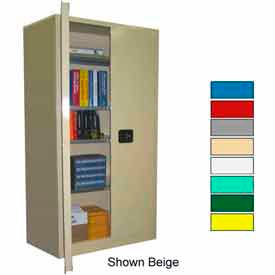 Securall® 36x24x72 Self-Latch Industrial Cabinet White