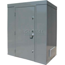 Securall® 10'W x 4'D Tornado Safe Room Gray, 1-8 People