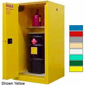 Securall® 65-Gallon, Sliding Door, Vertical Flammable Drum Cabinet Red