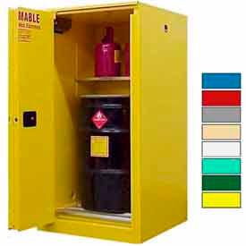 Securall® 65-Gallon, Sliding Door, Vertical Flammable Drum Cabinet Yellow