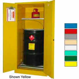 Securall® 60-Gallon, Manual Close, Haz Waste Drum Storage Cabinet Blue
