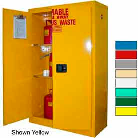 Securall® 45-Gallon, Manual Close, Haz Waste Safety Can Cabinet White