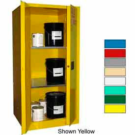 Securall® 60-Gallon, Manual Close, Haz Waste Safety Can Cabinet White