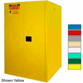 Securall® 75-Gallon, Manual Close, Haz Waste Drum Storage Cabinet Blue