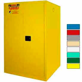Securall® 75-Gallon, Manual Close, Haz Waste Drum Storage Cabinet Yellow
