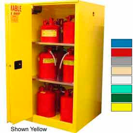 Securall® 45-Gallon, Sliding Door,Hazardous Waste Safety Can Cabinet White
