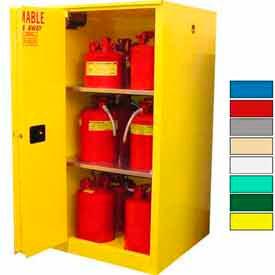 Securall® 45-Gallon, Sliding Door,Hazardous Waste Safety Can Cabinet Yellow