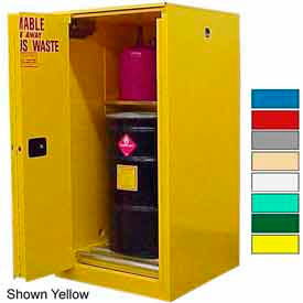 Securall® 75-Gallon, Sliding Door,Hazardous Waste Drum Cabinet Ag Green