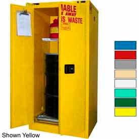 Securall® 60-Gallon, Self Close, Haz Waste Drum Storage Cabinet Ag Green