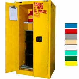 Securall® 60-Gallon, Self Close,Hazardous Waste Drum Storage Cabinet Yellow
