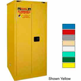 Securall® 60-Gallon, Self-Close Door, Waste Safety Can Storage Cabinet Md Green