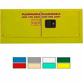 Securall® 12-Gallon Manual Close, Stackable Flammable Cabinet Yellow