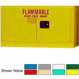 Securall® 18-Gallon Manual Close, Stackable Flammable Cabinet White