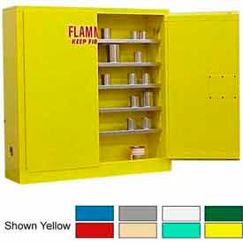 Securall® 24-Gallon Manual Close, Wall-Mounted Flammable Cabinet Blue