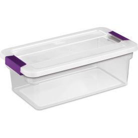 "Sterilite Clearview Storage Box With Latched Lid 17511712 - 6 Qt. 14-1/8""L x 7-7/8""W x 4-7/8""H - Pkg Qty 12"