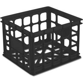 "Sterilite Storage Crate 16929006 - Black  15-1/4""L x 13-3/4""W x 10-1/2""H - Pkg Qty 6"