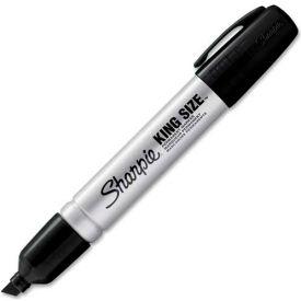 Sharpie® King Size Permanent Marker, Chisel, Black Ink, Dozen