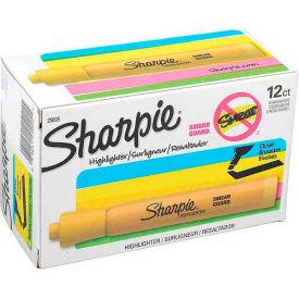 Sharpie® Accent Tank Highlighter, Smear Guard, Chisel Tip, Yellow Ink - Dozen - Pkg Qty 12