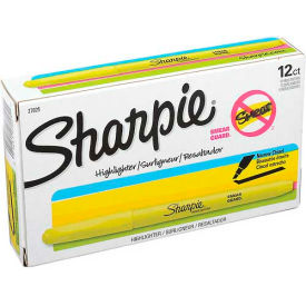 Sharpie® Accent Highlighter, Narrow Chisel Tip, Nontoxic, Fluorescent Yellow Ink - Pkg Qty 12