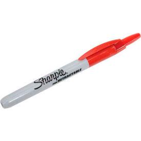 Sharpie® Retractable Permanent Marker, Fine Point, Red Ink - Pkg Qty 12