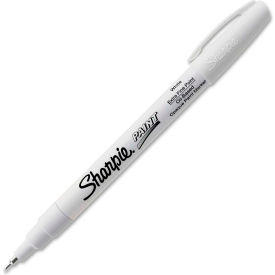 Sharpie® Paint Marker, Oil-Based, Extra Fine, White Ink - Pkg Qty 12