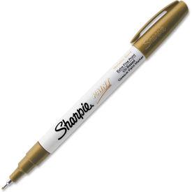 Sharpie® Paint Marker, Oil-Based, Extra Fine, Metallic Gold Ink, 1 Each