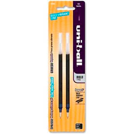 Sanford Uni-ball Gel Impact Rollerball Pen Refill, Bold, Black Ink, 2/Pack by