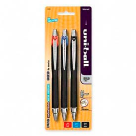 Sanford® Uni-ball Jetstream RT Rollerball Retractable Pen, 1.0mm, Assorted Ink, 3/Pack
