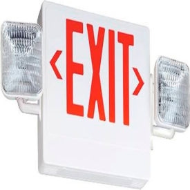 Acuity Brands Lighting 122C4V Contractor Select Economy Grade Exit/Emergency Light Red by