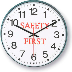 """Infinity/Itc 90/00Sf-1  Message Clock - 12"""" Diameter - Safety First"""